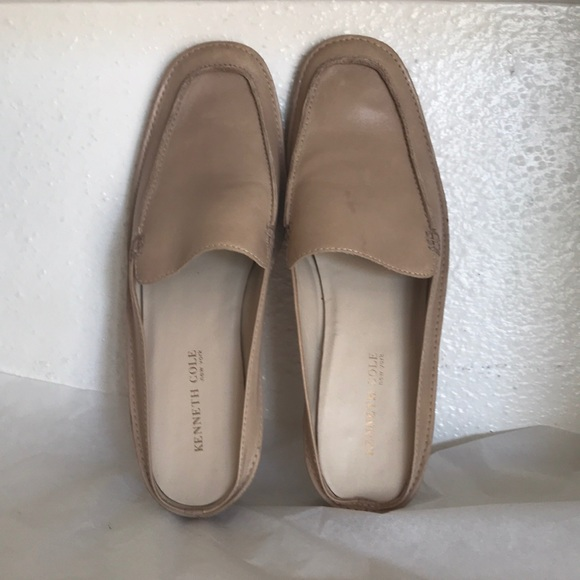 Kenneth Cole Beige Mules 8